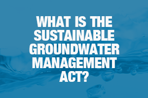 What is the Sustainable Groundwater Management Act?